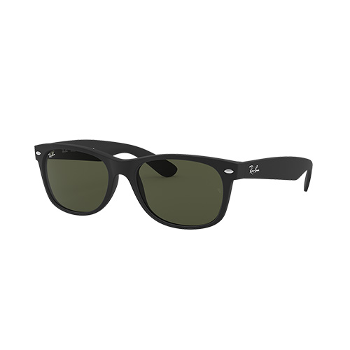 New Wayfarer Classic Sunglasses, Black/Green, swatch