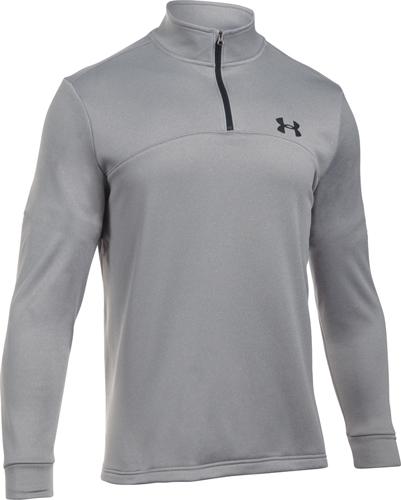 Men's Long Sleeve Armour Fleece Icon 1/4 Zip, Heather Gray, swatch