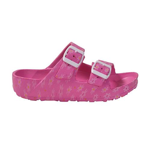 Girls' Printed EVA Sandal, Hot Pink,Fuscia,Magenta, swatch