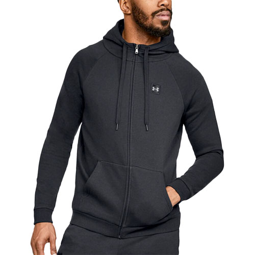 Under Armour Mens Rival Fleece Pull Over Hoodie Green Sports Running Gym