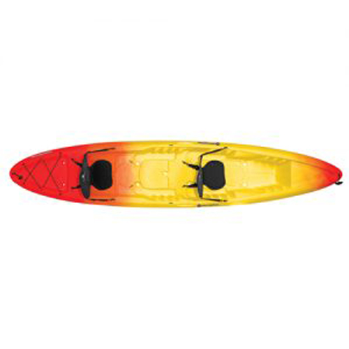 Sound 10.5 Sit-In Angler Kayak, Red/Yellow, swatch