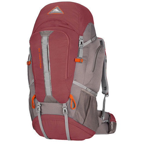 Pathway 70L Hiking Pack, Red/Gray, large