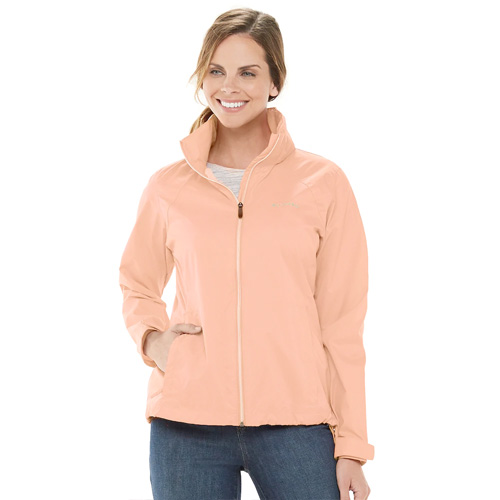 Women's Switchback III Waterproof Rain Jacket, Peach, swatch