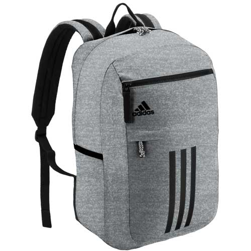 League 3 Stripe Backpack, Heather Gray, swatch