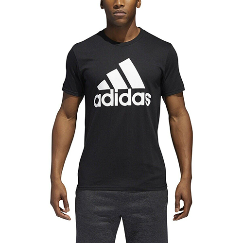 Men's Short Sleeve Badge of Sport Classic T-Shirt, Black/White, swatch