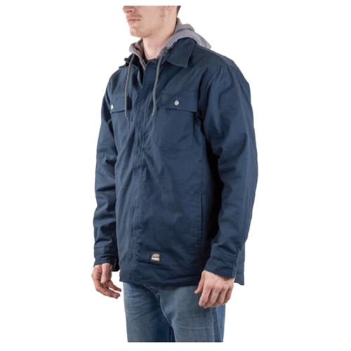 Men's Hooded Shirt Jacket, Navy, swatch