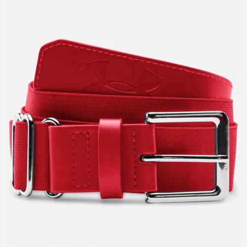 Youth Baseball Belt, Red, swatch