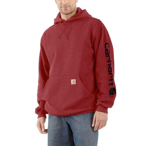 Men's Midweight Hooded Logo Sweatshirt, Dk Red,Wine,Ruby,Burgandy, swatch