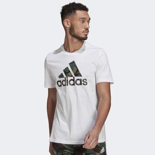 Men's Essentials Camouflage-Print Tee, White, swatch