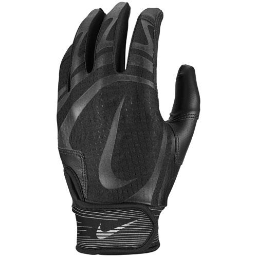 Men's Hurache Edge Batting Gloves, Black/Black, swatch