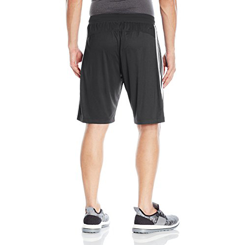 Mens Designed 2 Move 3-Stripes Shorts, Black/White, swatch