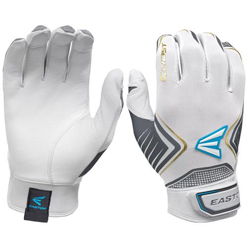 Women's Ghost Fastpitch Batting Gloves, White/Gold, swatch