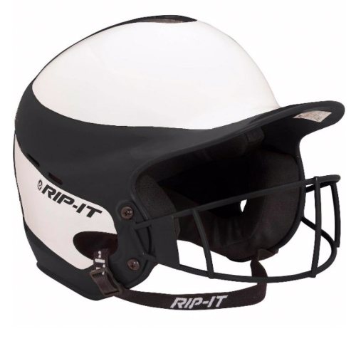Vision Pro Softball Helmet With Mask, Black, swatch