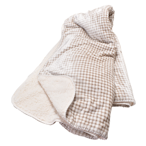 Gingham Sherpa Throw Blanket, Assorted Color Pack, swatch