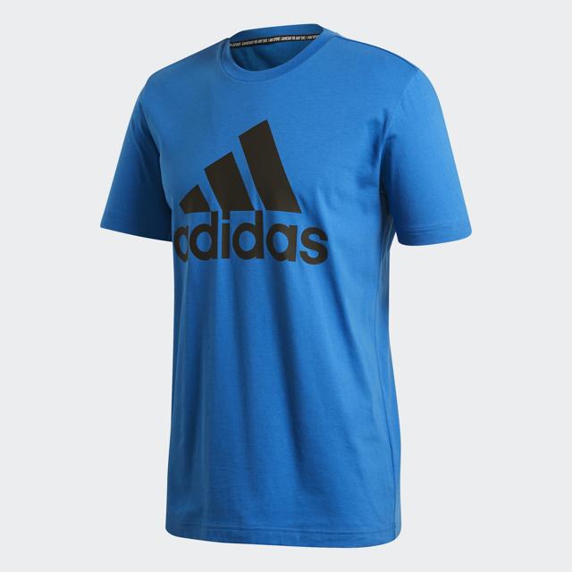 Men's Logo Short Leeve Tee, Blue, swatch