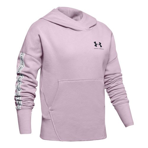 Girls' Sportstyle Hoodie, Pink, swatch