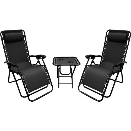 Zero Gravity Chair/Table Combo, Black, swatch