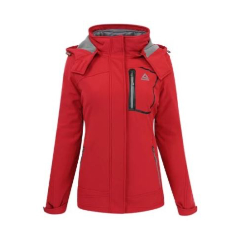 Women's Softshell System Jacket, Red, swatch