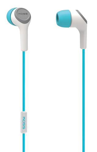 In-Ear Buds with Mic, Green Blue, Teal, swatch