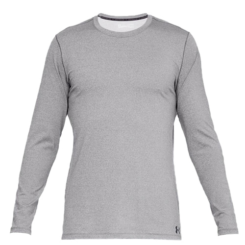 Men's Long Sleeve ColdGear Fitted Crew Top, Charcoal,Smoke,Steel, swatch