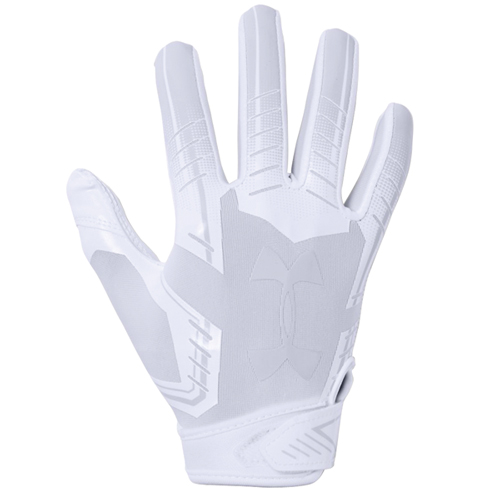 Adult F6 Football Gloves, White/White, swatch