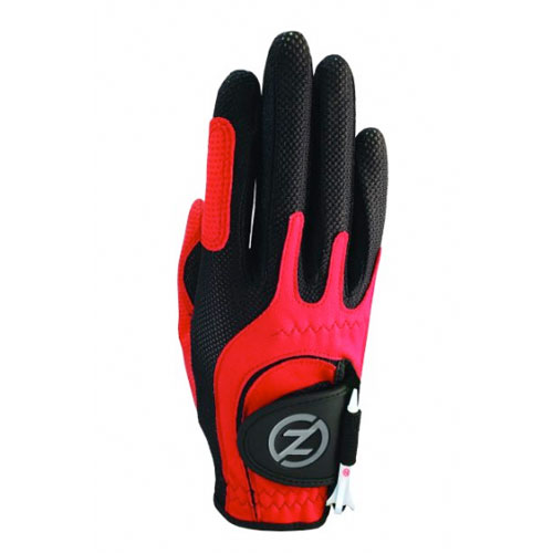 Junior Right Hand Compression Golf Glove, Red, swatch