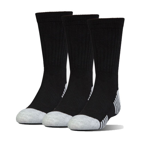 Heatgear Tech Crew Socks 3-Pack, Black, swatch