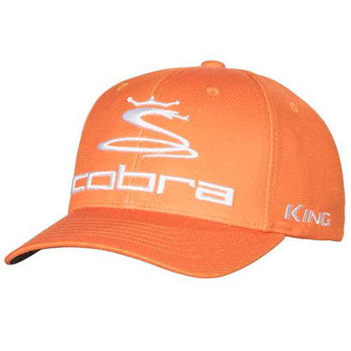 Men's Pro Tour King Fitted Golf Cap, Orange, swatch