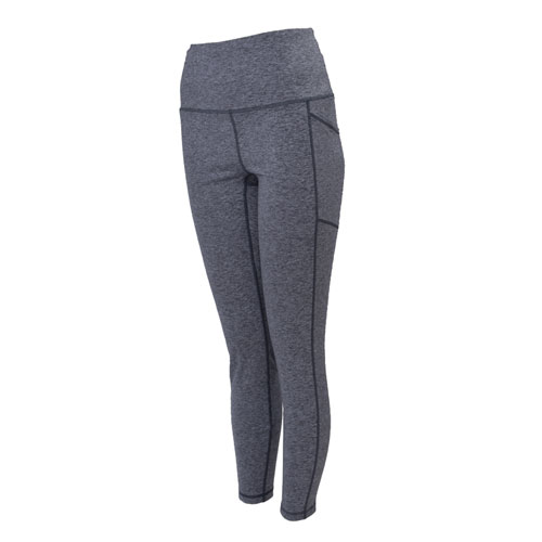 Women's Doubled-Peached Striated Leggings, Heather Gray, swatch