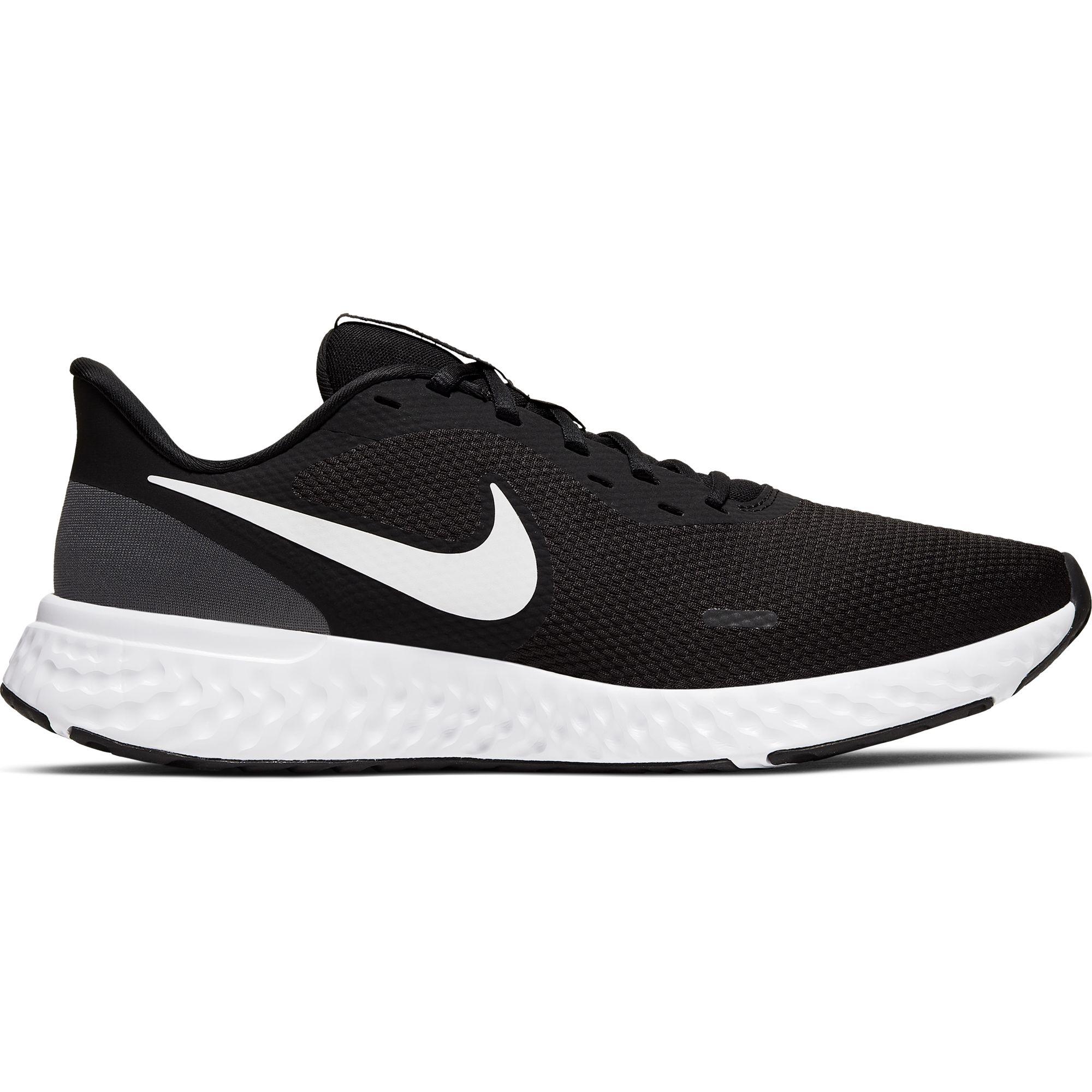 Men's Revolution 5 Running Shoes, Black/White, swatch