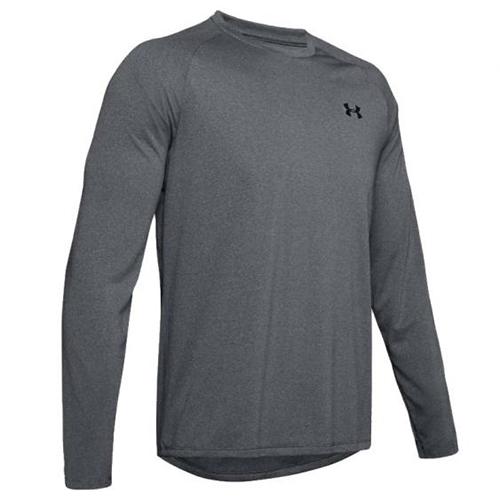 Men's Tech Long Sleeve T-Shirt, Heather Gray, swatch