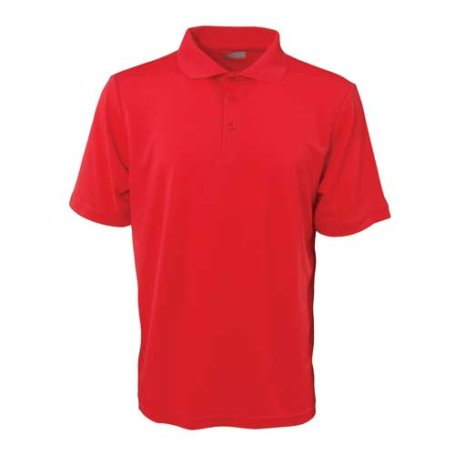 Men's Short Sleeve Golf Polo, Red, swatch