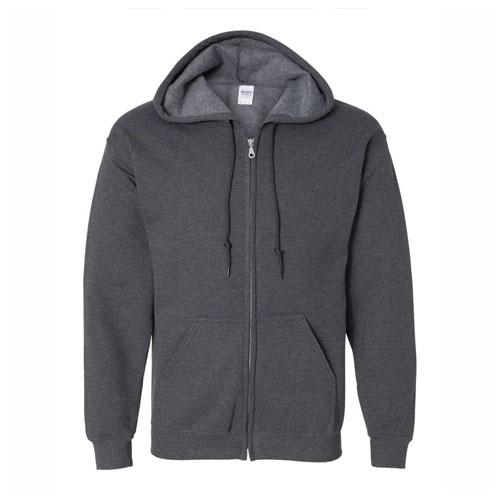 Women's Full Zip Hooded Sweatshirt, Charcoal,Smoke,Steel, swatch