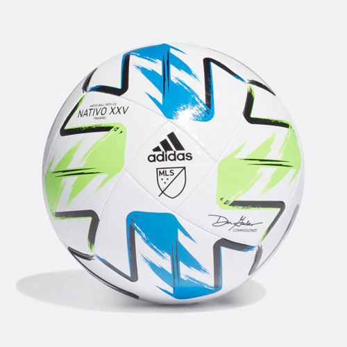 MLS Nativo XXV Training Soccer Ball, White/Green, swatch