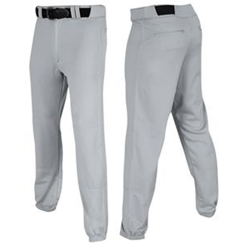 Men's Pro-Plus Closed Baseball Pants, Gray, swatch