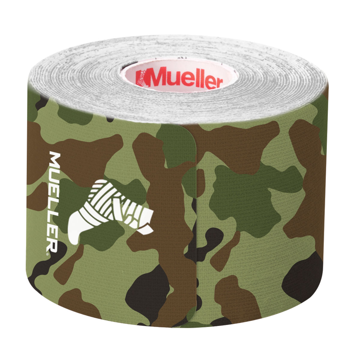 Kinesiology Tape Pre-Cut I-Strips, Camouflage Green, swatch