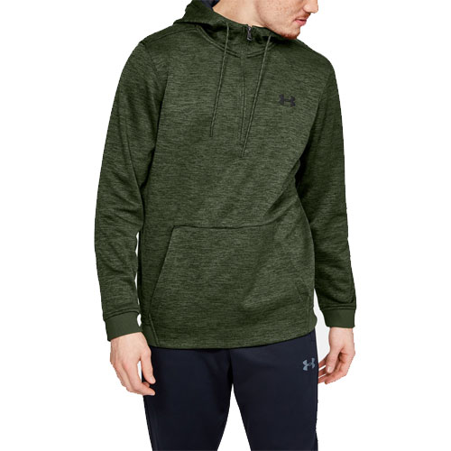 Men's Armour Fleece 1/2 Zip Hoodie, Green, swatch