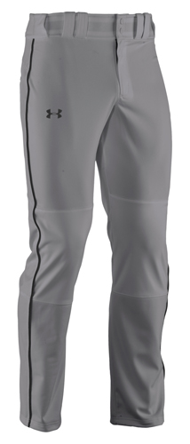 Men's Clean-up Piped Baseball Pant, Gray/Black, swatch