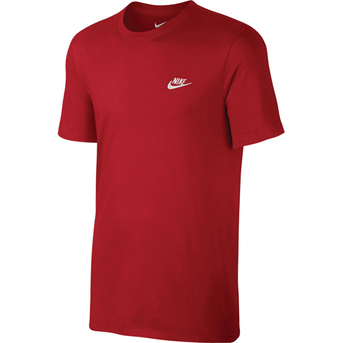 Men's Embroidered Futura Short Sleeve Tee, Red, swatch