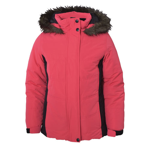 Girl's Aspen Calling Jacket, Coral, swatch