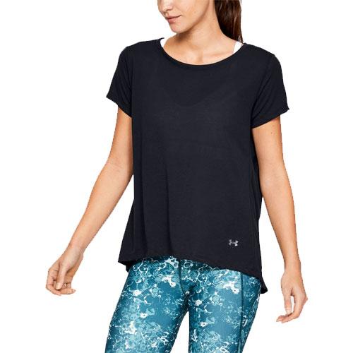 Women's Whisperlight Foldover T-Shirt, Black, swatch