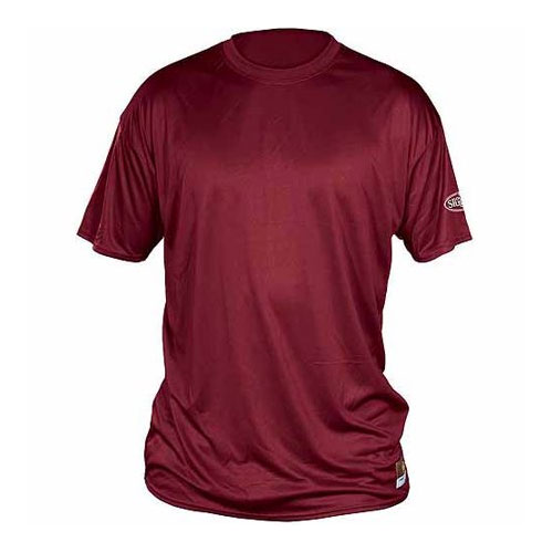 Youth Slugger Solid Short Sleeve Shirt, Maroon, swatch