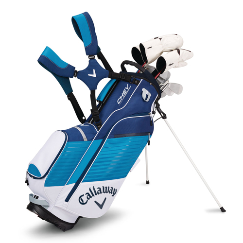 Chev Stand Bag, White/Teal, swatch