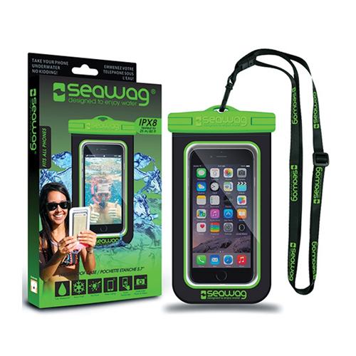 Waterproof Smartphone Case, Black/Green, swatch