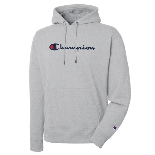 Men's Powerblend Big Logo Pullover Hoodie, Heather Gray, swatch