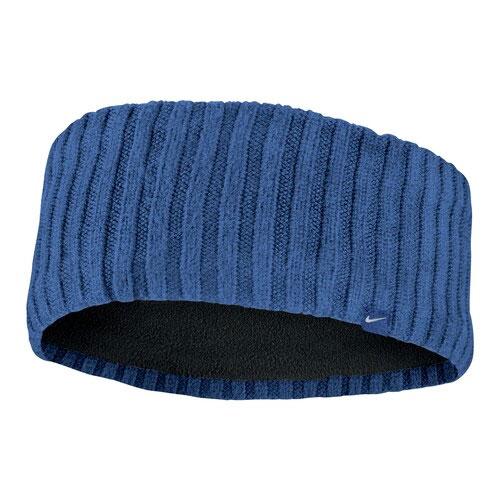Knit Wide Headband, Navy, swatch