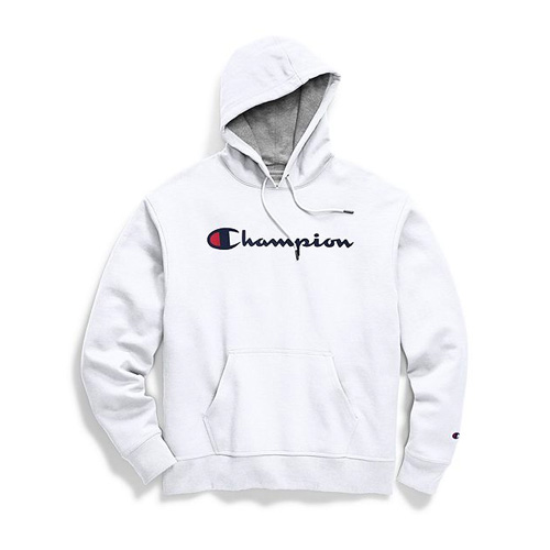 Men's Powerblend Big Logo Pullover Hoodie, White, swatch