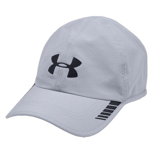 Men's Launch Armourvent Running Hat, Gray/Black, swatch