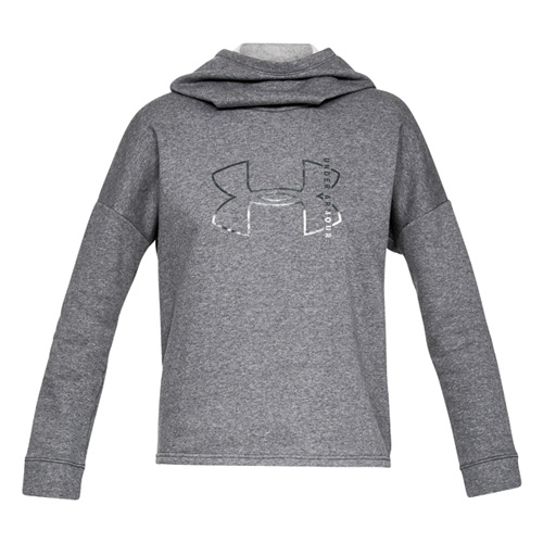 Womens Rival Fleece Hoodie, Heather Gray, swatch