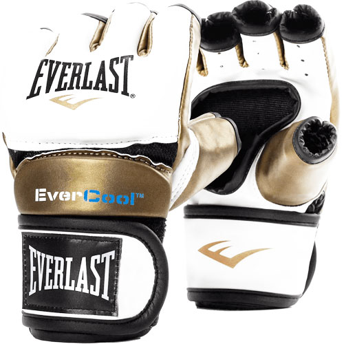 Women's Everstrike Training Gloves, White/Gold, swatch